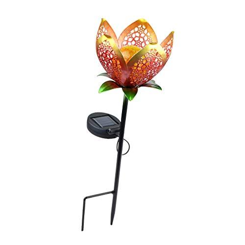 Amuzocity Lámpara de Pie de Jardín LED Hollow Flower * con Lámpara de Jardín para