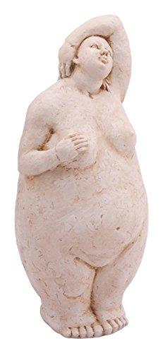 E-X Frauen Skulptur ° Hilda° Dicke Dame in Steinoptik ° Garten Figur ° Deko H 61 cm