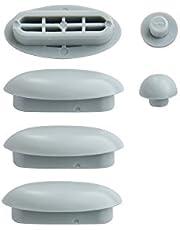 Wc-bril   Stopjes voor toiletbril   Afstandhouder voor wc-bril   Dempers   Wit   Kunststof