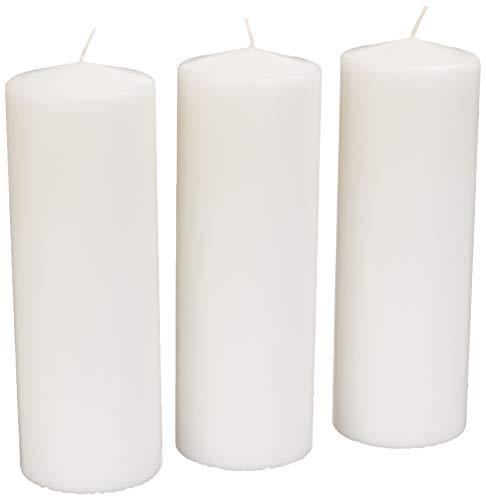 Amazon Basics Unscented Pillar Candles - 2.8