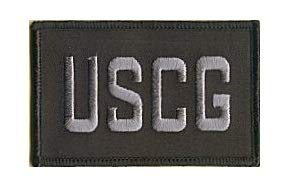 USCG Coast Guard Tactical Embroidery Patch with Hook/Loop Backing