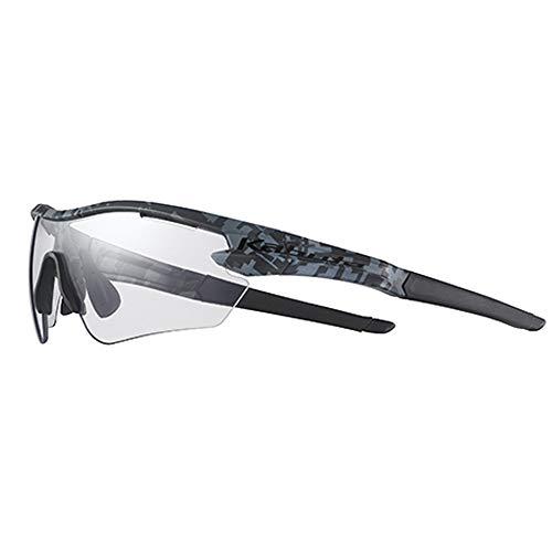 オージーケーカブト(OGK KABUTO) 自転車 スポーツサングラス/アイウエア 101PH (撥水クリア調光レンズ) マットブラックカモ サイズ:S