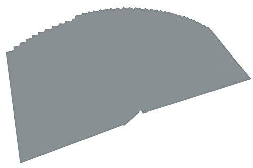 folia 6484 - Tonpapier steingrau, DIN A4, 130 g/qm, 100 Blatt - zum Basteln und kreativen Gestalten von Karten, Fensterbildern und für Scrapbooking
