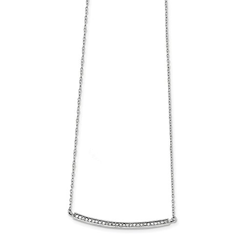 925 Sterling Silver Cubic Zirconia Cz 2 Inch Extension Bar Chain Necklace Pendant Charm Fine Jewellery For Women Gifts For Her