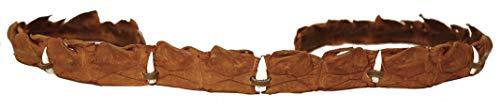 Kakadu Traders Australia Cinturino in pelle per cappello, diverse varianti | pelle sintetica o vera coccodrillo CrocTobacco+ denti. Taglia unica