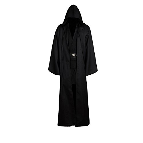 Daiendi - Disfraz de Anakin Skywalker para adulto, color negro negro negro XXXL