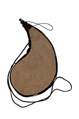 Erlebnis Mittelalter – Bota Trinkflasche aus Leder traditioneller Trinkschlauch (gebogen, klein)