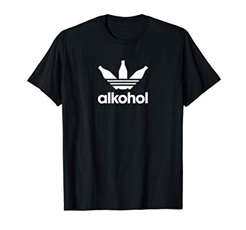 Alkohol Parodie lustiges Alki Sprüche Meme Bier Wein JGA Mfa T-Shirt