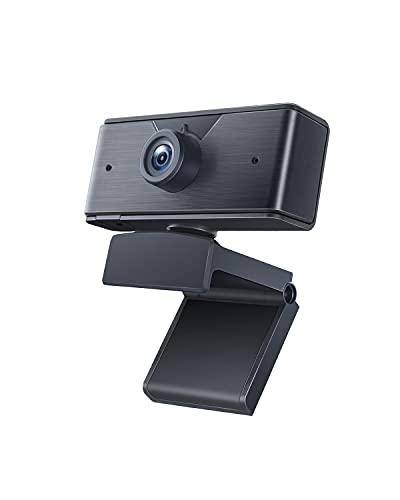 AUKEY Webcam 1080p, USB Webcam mit Mikrofon, Full HD, Sichtschutz und Automatischer Belichtungskorrektur für Videochats, Online-Konferenzen und Live-Streaming, Kompatibel mit Windows/Mac/PCs/Laptops