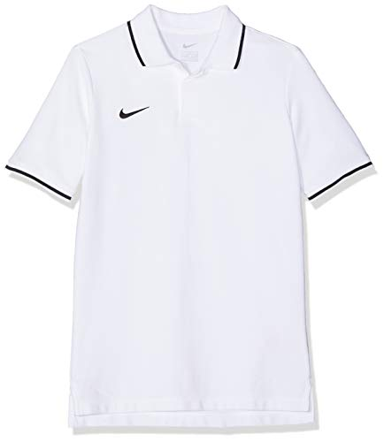 Nike Kinder Y TM CLUB19 SS Polo Shirt, Weiß (White/Black/100), Gr. L