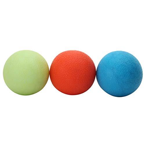 Kit Bolas de Aperto Grip Ball, Leve, Medio, Forte, 5 Cm, Liveup Sports