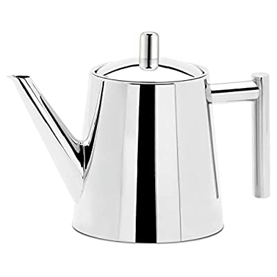 Easyworkz Stainless Steel Teapot with Removeable Infuser Tea Maker for All Fruit Herbal and Infusion Tea 25oz (750ml) Dishwasher Safe Fit for All Stovetops