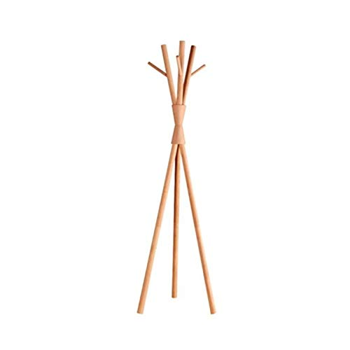 JIAO PAI Creatividad Percheros, Sencillez Perchero De Suelo para Ropa Perchero De Madera Maciza De Estilo Japonés Perchero para Pasillo En Forma De árbol(Size:170 * 50CM)