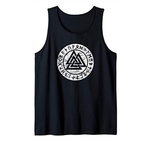 Valknut Odin Símbolo Vikingo Pagan Mitología Nórdica Signo Camiseta sin Mangas