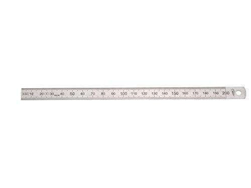 HELIOS-PREISSER Stahlmaßstab biegsam EG-Prüfzeichen Genauigkeit II, 200 x 13 x 0.5 mm, 0460222