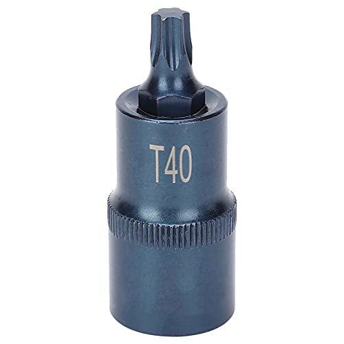 Broca de enchufe de estrella, broca de enchufe Star S2, herramienta de llave rápida eléctrica de aleación de acero, hardware Blueing 1/2X55XT40