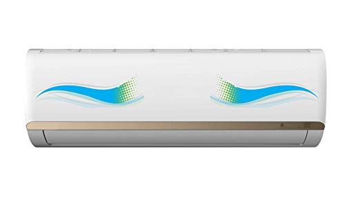 VVWV Sharp Vectors Splitted Creative AC Sticker Air Conditioner Skin Decal for Home Living Office Multicoloured Vinyl Printed Standard Size (for All Models/Sizes/Brands)