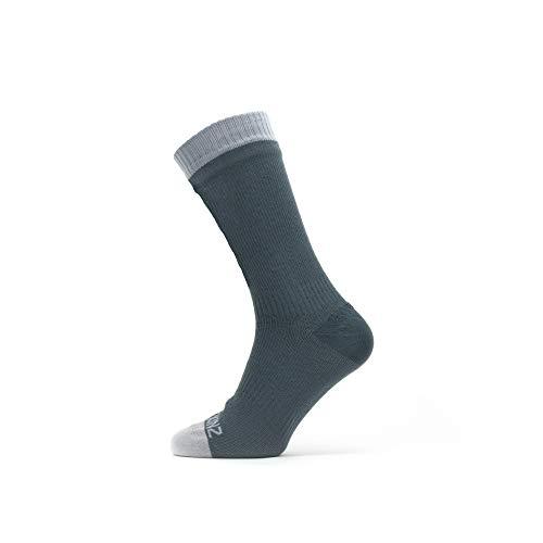 Seal Skinz Waterproof Warm Weather Mid Length Sock Calcetines unisex para adultos, gris, L