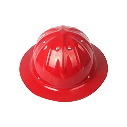 Sooiy Casco con Casco Ajustable, Casco de construcción de Aluminio,Red
