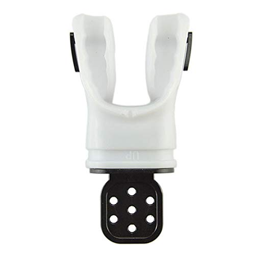 DASNTERED Denpetec Boquilla de buceo, regulador de repuesto/tubo de esnórquel moldeable para equipos de adultos, respiración, comodidad subacuática buceo con envoltura de corbata (blanco)