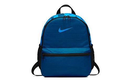 NIKE Y NK BRSLA JDI Mini BKPK, Mochila Unisex Infantil, Multicolor (Gym Blue/Black/Blue), 15x24x45 cm (W x H x L)