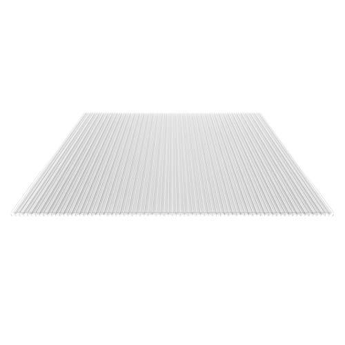 Stegplatte | Hohlkammerplatte | Stegfünffachplatte | Material Polycarbonat | Breite 980 mm | Stärke 16 mm | Farbe Glasklar | Extra stark