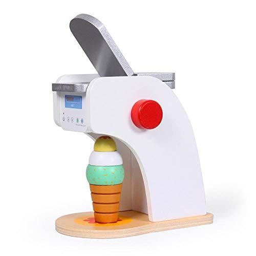 hook.s Eismaschine Pretend Toy, Holz Simulation Eismaschine Spielzeug Set, pädagogisches EIS Spielzeug Set Zubehör für Kinder Kinder
