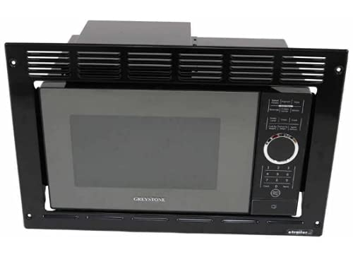 GreyStone RV Microwave | .9 Cubic Ft Black Microwave with Trim Kit | 900 Watt P90D23AP-X3-FR03 | Direct Replacement for GreyStone
