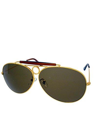Magnum T.Selleck Piloten-Sonnenbrille, goldener Rahmen/braune Gläser