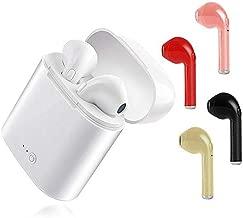 WONDER LABO》Bluetooth イヤホン ワイヤレスイヤホン 片耳 両耳 2WAY スポーツ ランニング ブルートゥース iPhone 7 8 X XS android ヘッドセット 充電ケース付き (ホワイト)