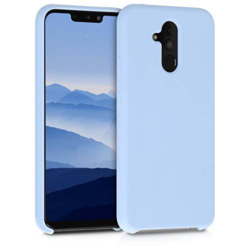 kwmobile Hülle kompatibel mit Huawei Mate 20 Lite - Hülle Silikon gummiert - Handyhülle - Handy Hülle in Hellblau matt
