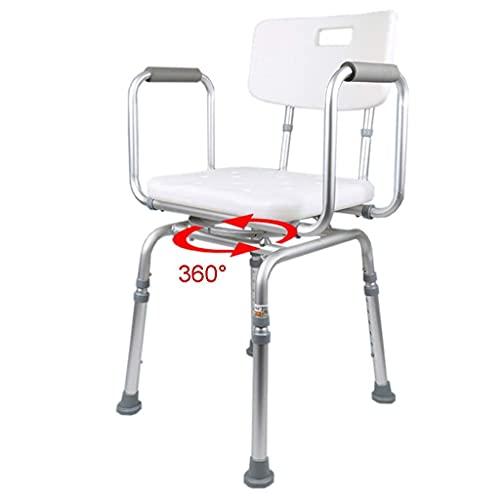 WECDS-E del Asiento de la Silla de la Ducha de los taburetes del baño Ajustables |Bañera de hidromasaje con Asiento Giratorio |Antideslizante para discapacitados,PersonasMayores,bariátrico ⭐