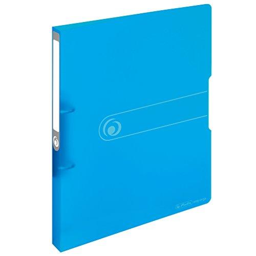 Herlitz 11205721 Ringbuch A4 (PP, 2-Ring-Kombi-Mechanik, 2,7 cm Rücken, 16 mm Füllhöhe) blau