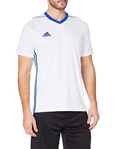 adidas Tiro 17 JSY Camiseta de Manga Corta, Hombre, Blanco (