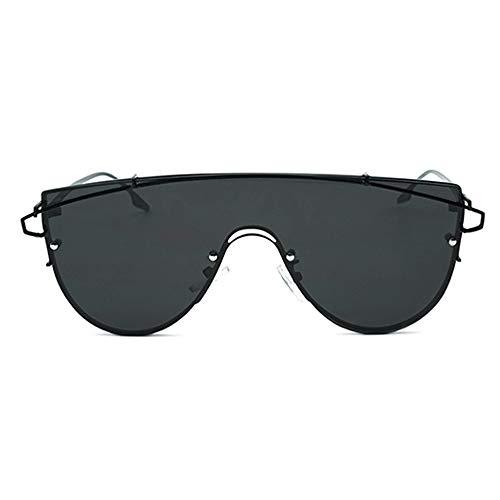 Kaper Go Gafas de sol con montura de metal integradas, gafas de sol unisex con protección UV400, retro clásico (color negro).