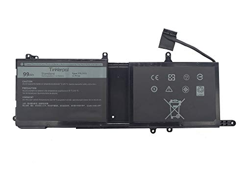 Tinkerpal 9NJM1 Replacement Laptop Battery for Dell Alienware 15 R3 17 R4 R4 ALW17C-D2738 ALW17C-D1738 ALW17C-D2748 ALW17C-D2758 ALW17C-R1748 0546FF 0HF250 44T2R HF250 MG2YH 99WH 11.4V 9-Cell