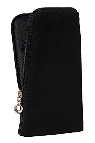 Funda blanda con cremallera de colour negro compatible con 'Samsung galaxia S6 edge +' móvil protectora funda de colour negro