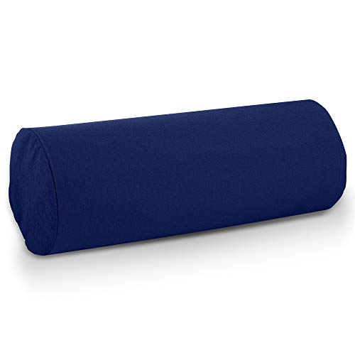 BodyHealt Round Cervical Roll Bolster Pillow Cushion with Removable Washable Cover