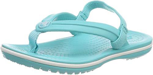 Crocs Unisex-Kinder Crocband Strap Flip Zehentrenner, Blau (Pool 40m), 25/26 EU
