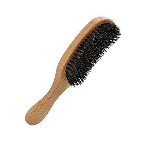 Minkissy En Bois Poils de Sanglier Brosse À Cheveux En Bois Club Brosse Brosse À Poils Doux pour Les Enfants Femmes Et Hommes (Manche En Bois Et Poils)