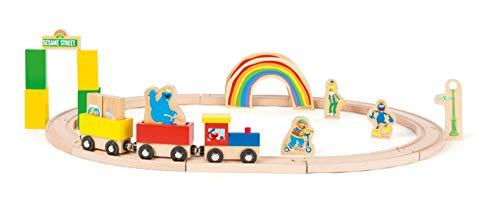 Small Foot 10964 Sesamstrasse Set inkl. Zubehör und Figuren, 100% FSC-Zertifiziert, exklusiv von der Marke, ab 3 Jahren, kombinierbar mit Anderen Holzeisenbahn-Systemen Spielzeug, Mehrfarbig