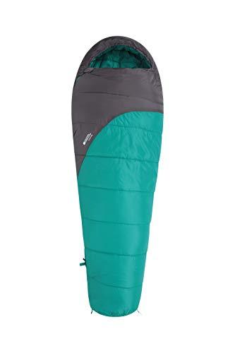 Mountain Warehouse Sac de Couchage Summit 250-22 cm x 40 cm, Forme Momie Sarcelle Zip à Droite - Longueur Standard