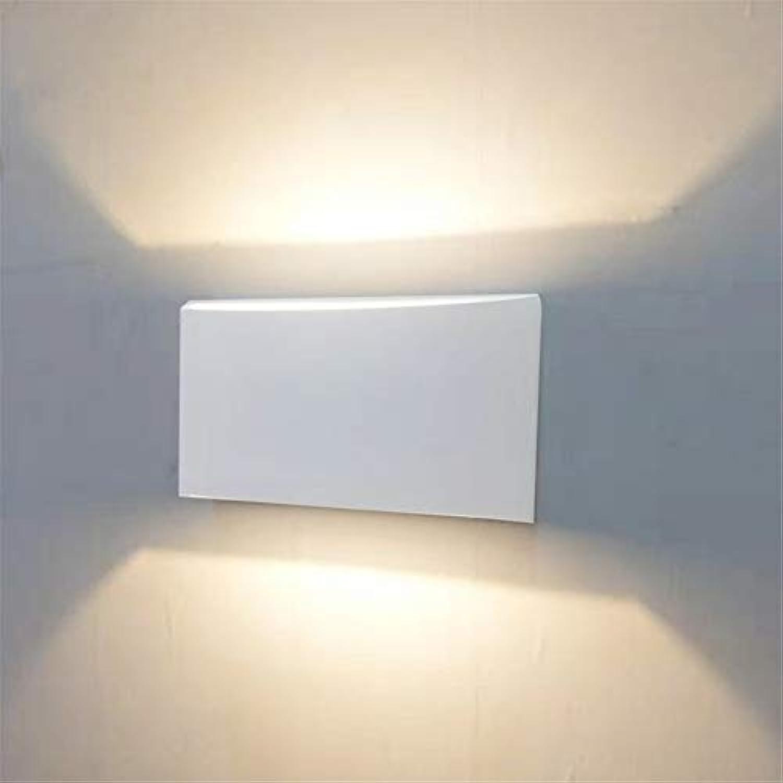 HZHUR Wandleuchte Schlafzimmer Wohnzimmer Flur bad Wandlampe Retro-modernen Wandbeleuchtung Up and down light Aluminium, weies Licht 3W