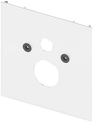 TECElux WC Glasplatte für Standard WC (inkl. Schallschutzset, Glas, Befestigungsabstand 180 mm) weiß, 9650100