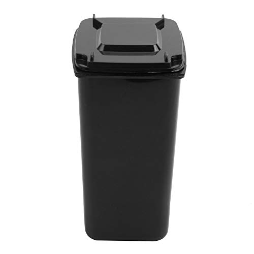 VANOLU Wheelie Bin Novelty Desk Tidy Desktop Stationery Organiser Pen Pot Holder Color:Black Size: 16 * 10.5 * 8cm