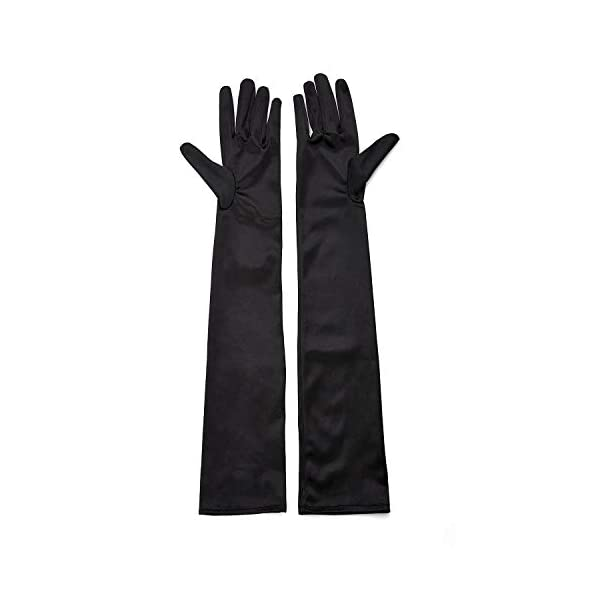 1920s Opera Satin Long Gloves 19.5″ Elbow Length,12BL