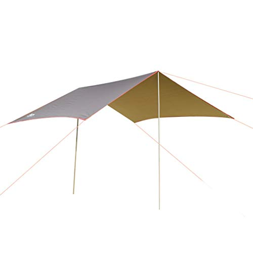 F-S-B Outdoor Awning Hammock Tarp Rain Fly Lightweight Camping Tent Sun Shelter for Tourism Hiking Beach Pergola,Brown