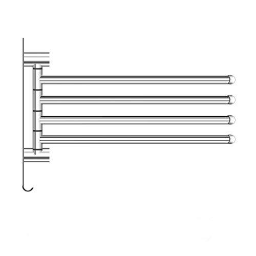 LingYe 2 stuks roestvrij staal kledinghaken 180° draaibare inklapbare wandkapstok kledingstang voor wandmontage inklapbaar kledingbeluchter wandgarderobe garderobehaken L14 L15