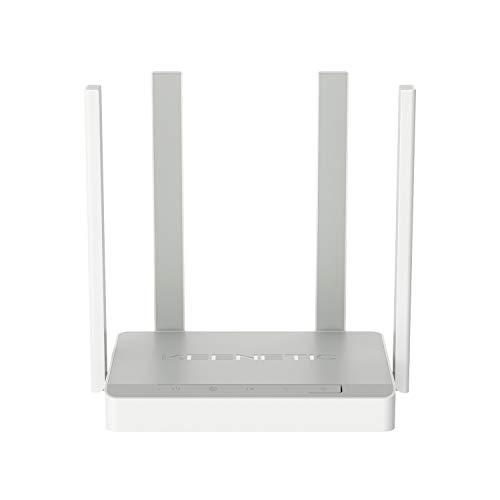 KEENETIC Speedster (KN-3010) AC1200 DB Mesh Wi-Fi Gbit Router Extender / CPU Dual Core / Smart Switch Gbit a 5 porte / Tutta la casa e Pmi / Box inglese / Multilingue incluso italiano