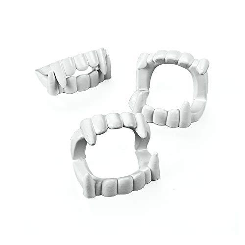Fun Express White Plastic Halloween Vampire Teeth - 24 Pieces, 4T